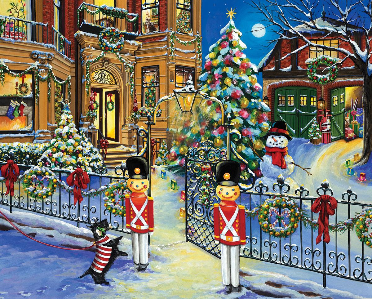 Holiday House Christmas Jigsaw Puzzle