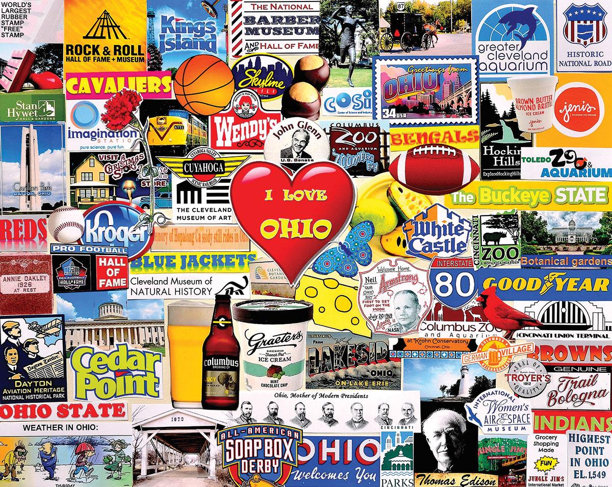 I Love Ohio Collage Jigsaw Puzzle