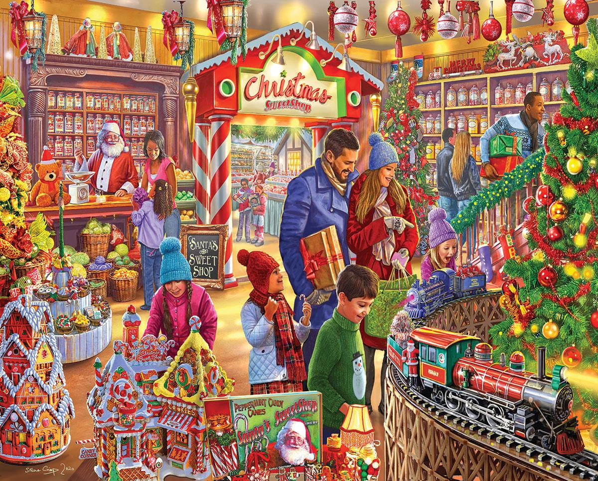 Christmas Sweetshop Christmas Jigsaw Puzzle