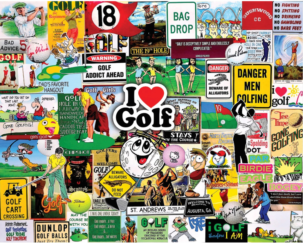 I Love Golf Sports Jigsaw Puzzle