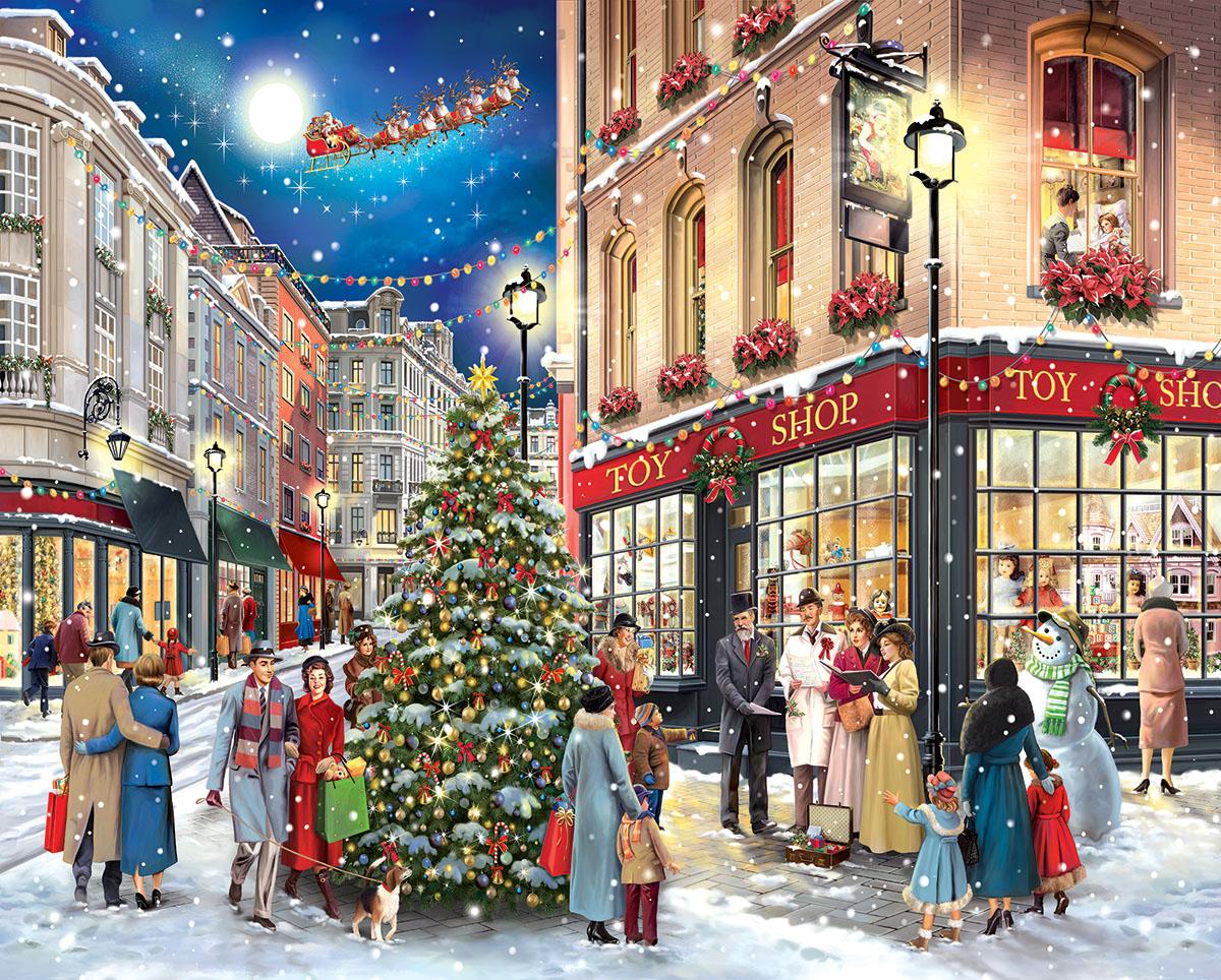 Christmas Carolers Christmas Jigsaw Puzzle