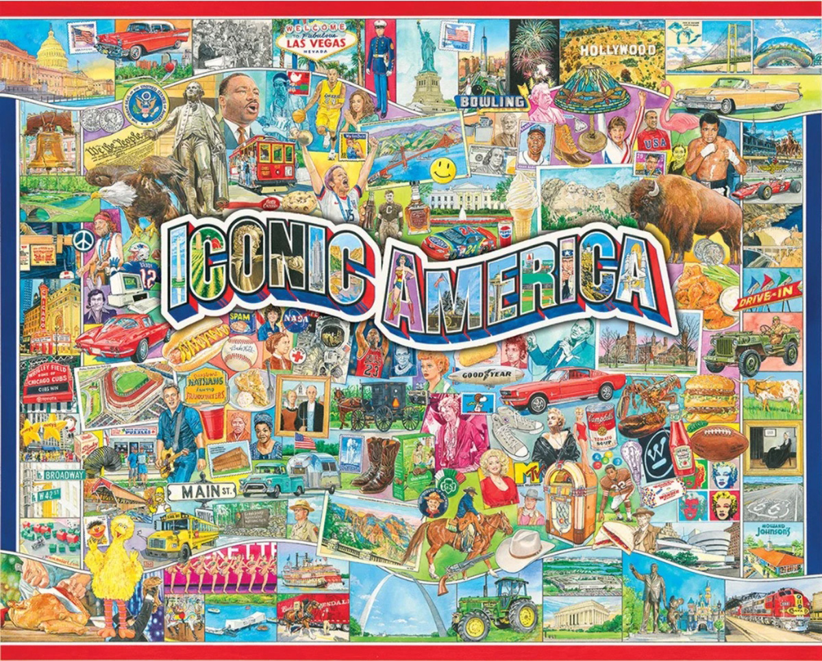 Iconic America Maps / Geography Jigsaw Puzzle