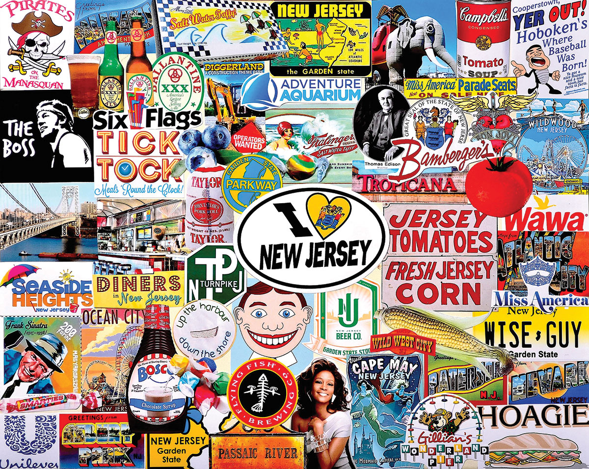 I Love New Jersey Collage Jigsaw Puzzle