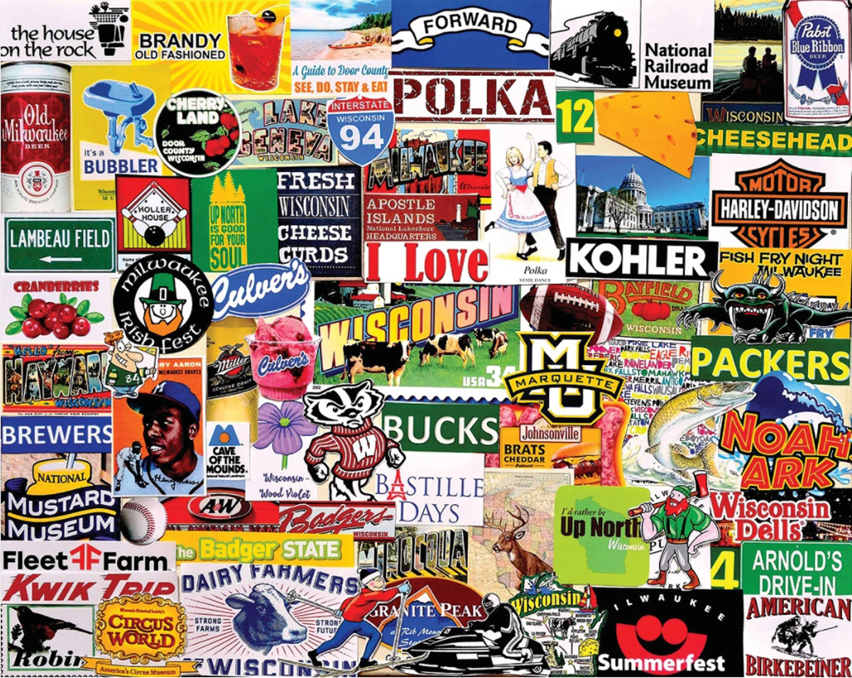 I Love Wisconsin Maps / Geography Jigsaw Puzzle