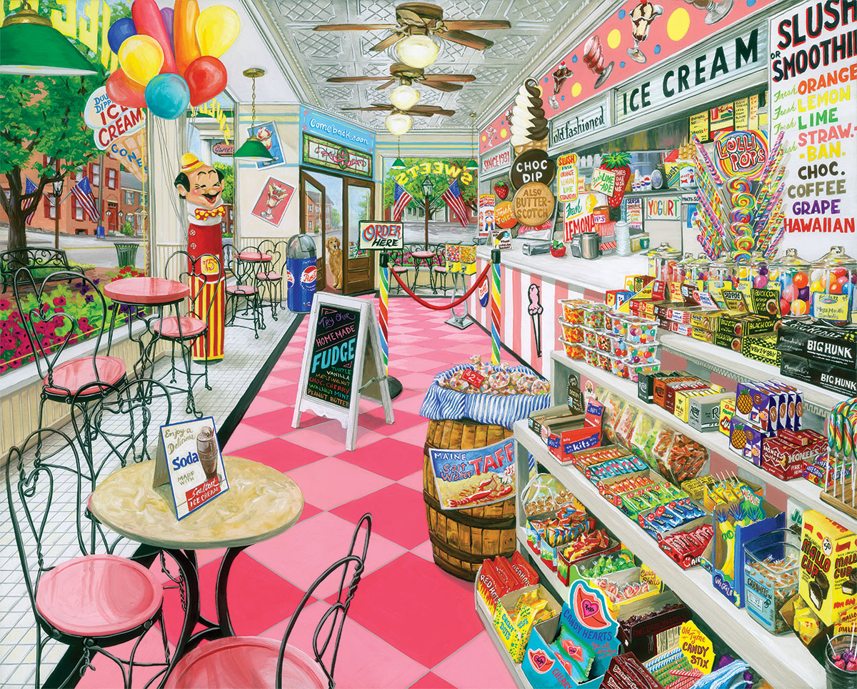 Ice Cream Parlor Food and Drink Jigsaw Puzzle