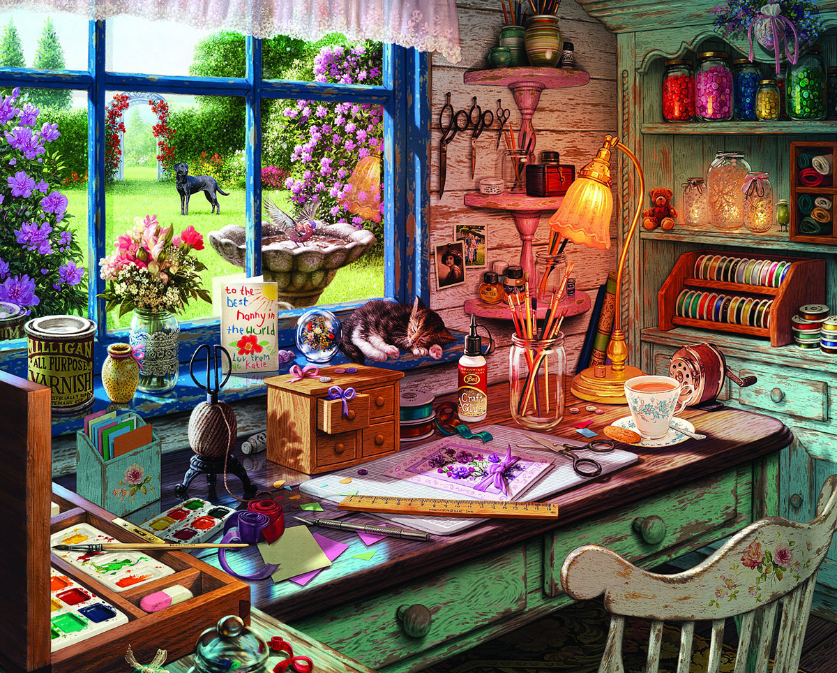 Mom's Craft Room Crafts & Textile Arts Jigsaw Puzzle