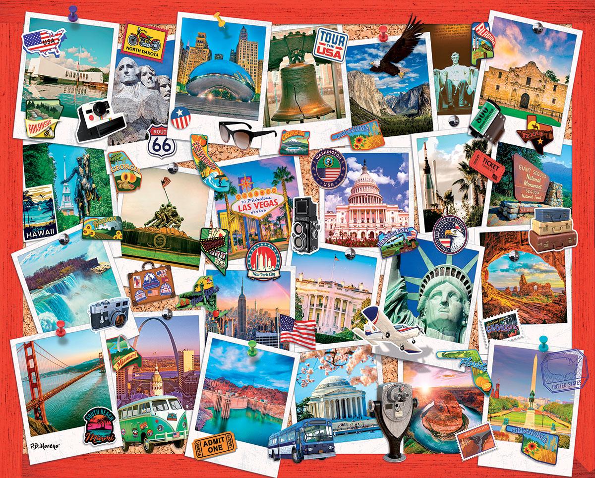 Snapshots of America Travel Jigsaw Puzzle