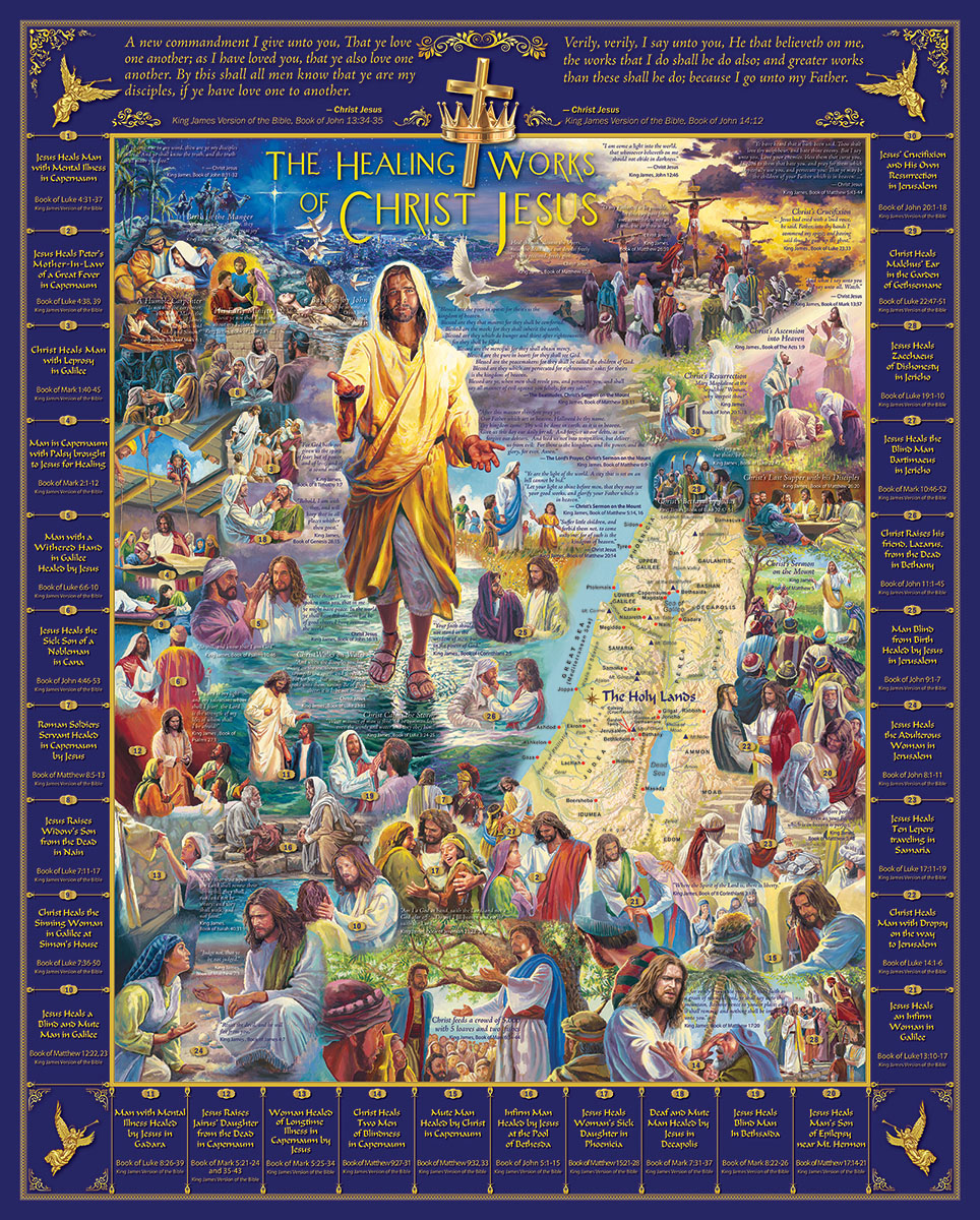 Healings of Jesus Religious Jigsaw Puzzle