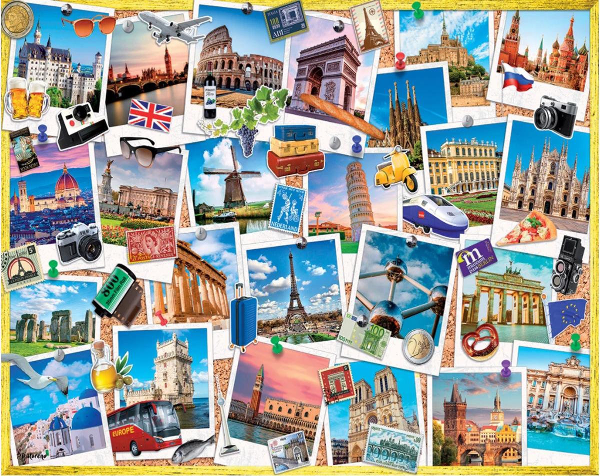 Snapshots of Europe Travel Jigsaw Puzzle