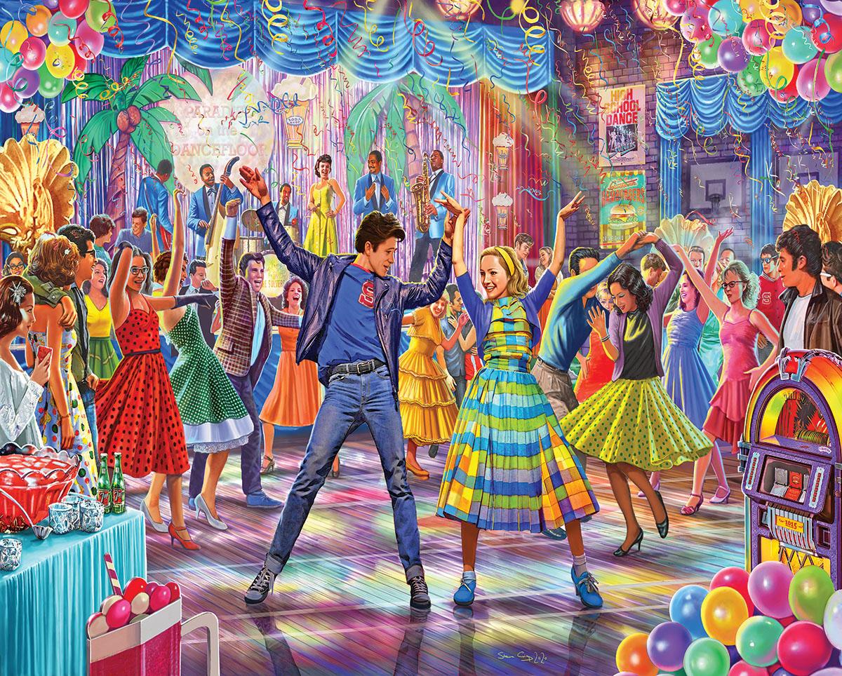 Let's Dance Nostalgic / Retro Jigsaw Puzzle