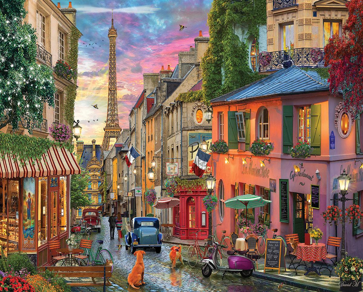 Paris Sunset Nostalgic / Retro Jigsaw Puzzle