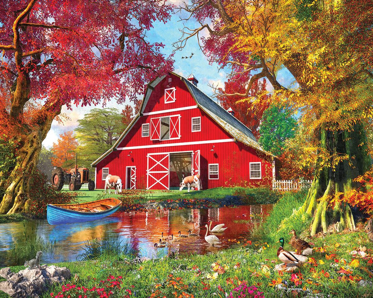 Sunny Barn Farm Jigsaw Puzzle