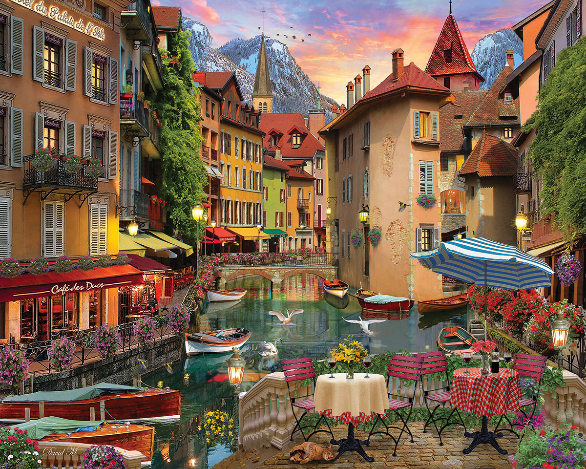 Sunset on the Canal Italy Jigsaw Puzzle