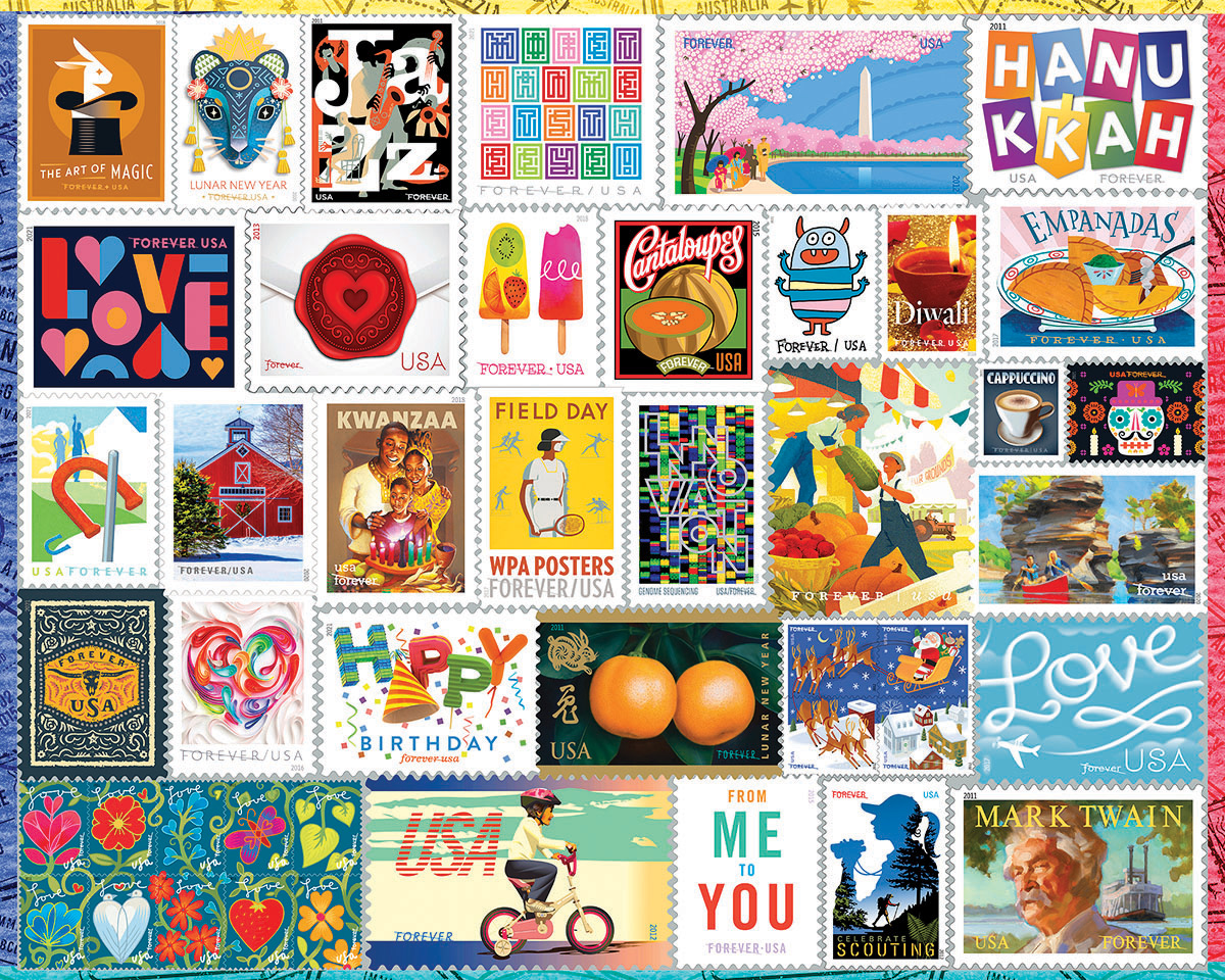 Forever Stamps Everyday Objects Jigsaw Puzzle