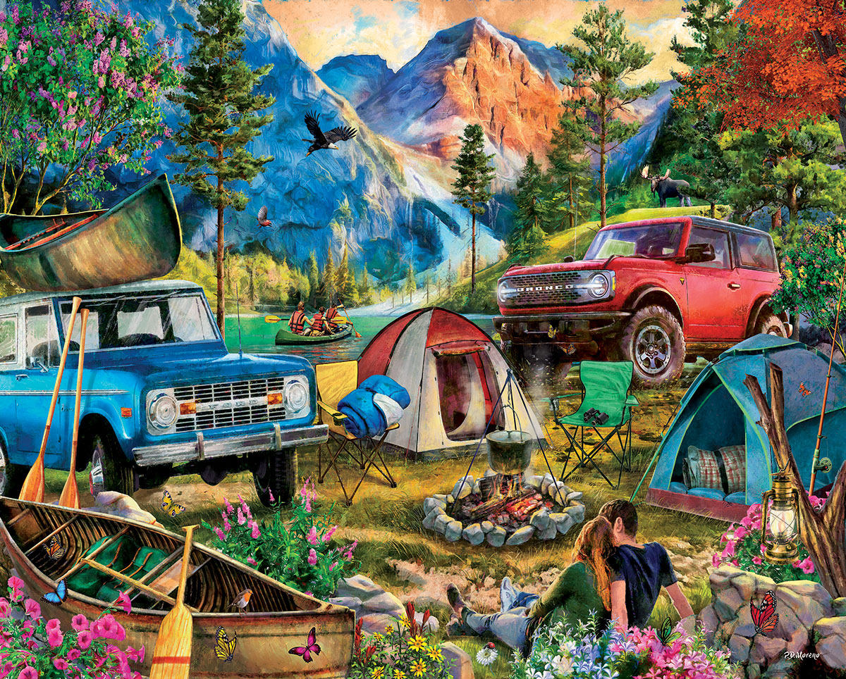 Camping Trip Travel Jigsaw Puzzle