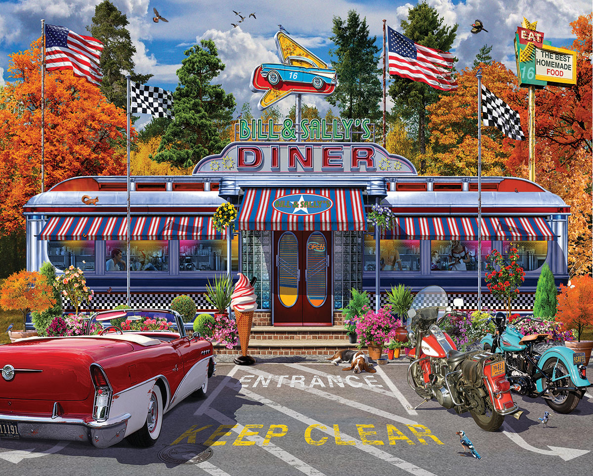 Bill & Sally's Diner Food and Drink Jigsaw Puzzle