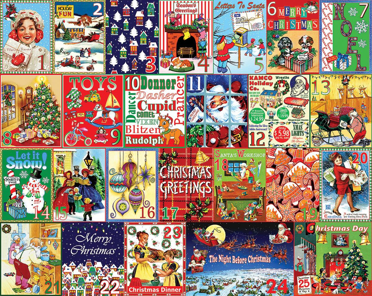 Christmas Calendar Christmas Jigsaw Puzzle