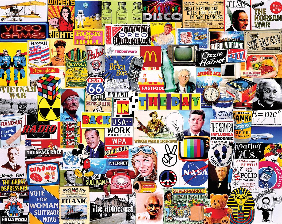 Back in the Day Nostalgic / Retro Jigsaw Puzzle