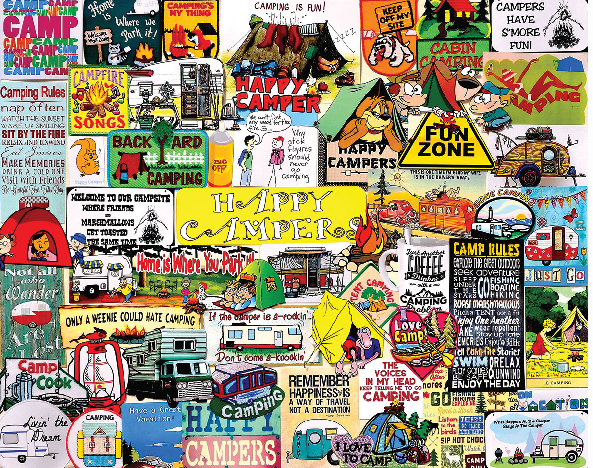 Happy Campers Travel Jigsaw Puzzle