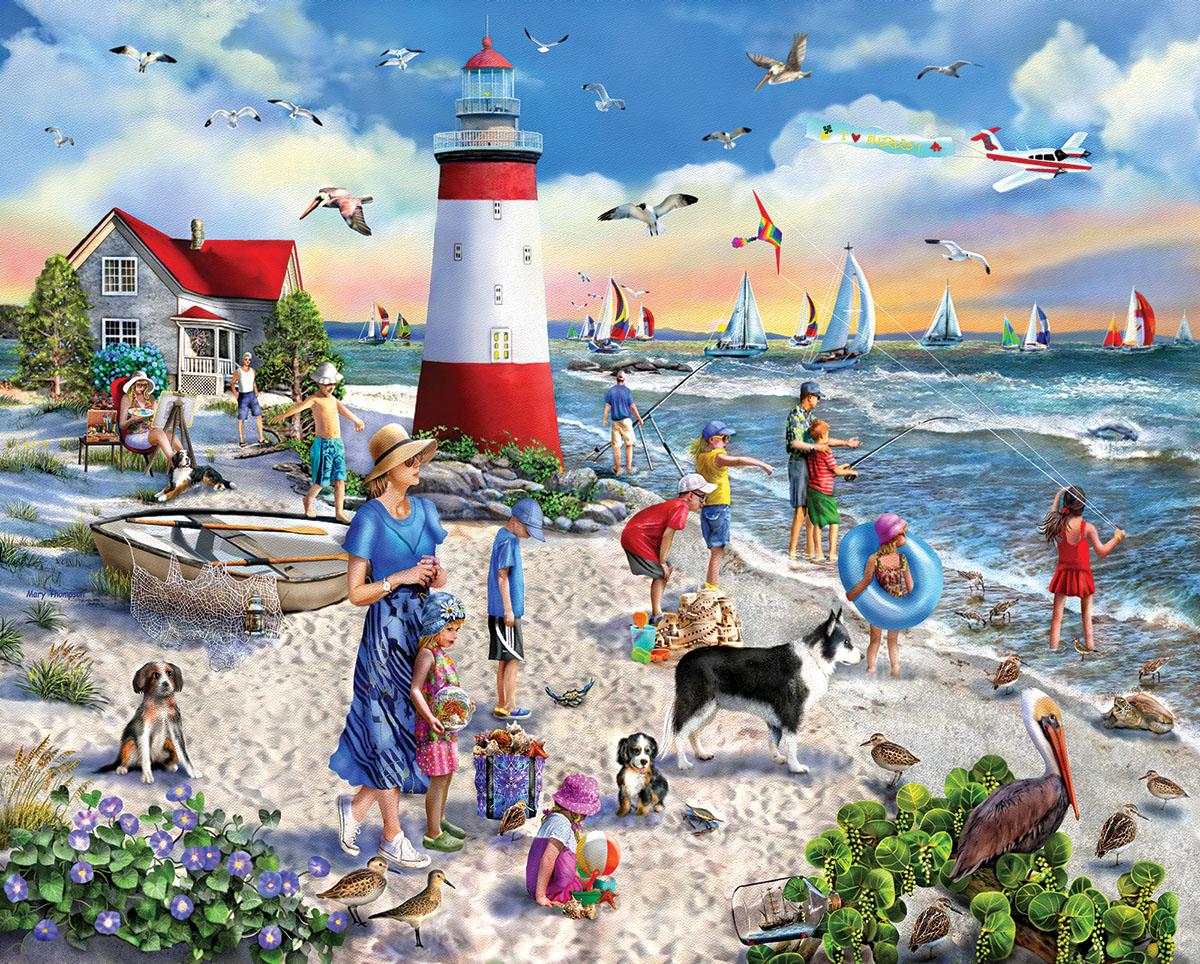 Beach Fun Beach Jigsaw Puzzle