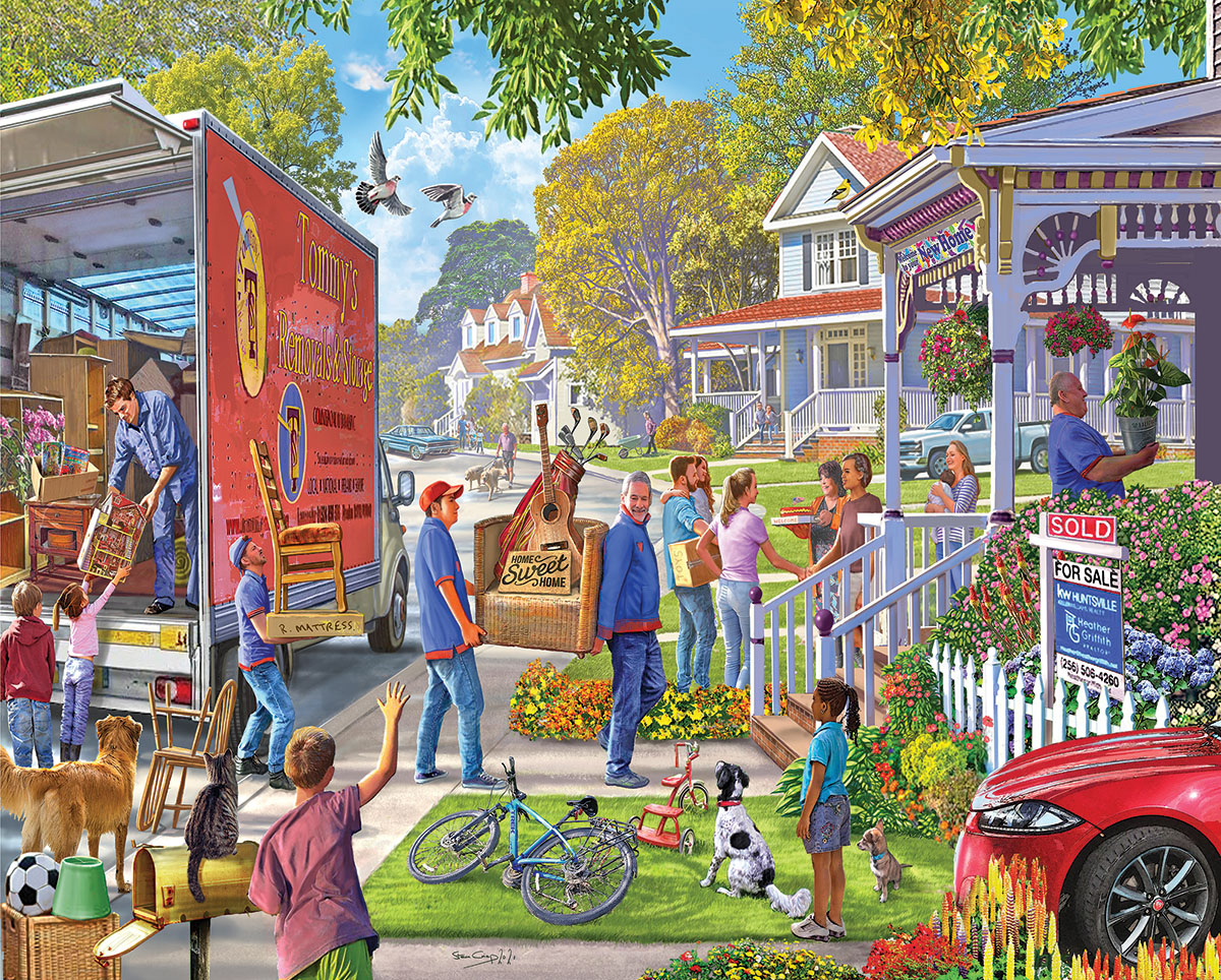 Moving Day Domestic Scene Jigsaw Puzzle
