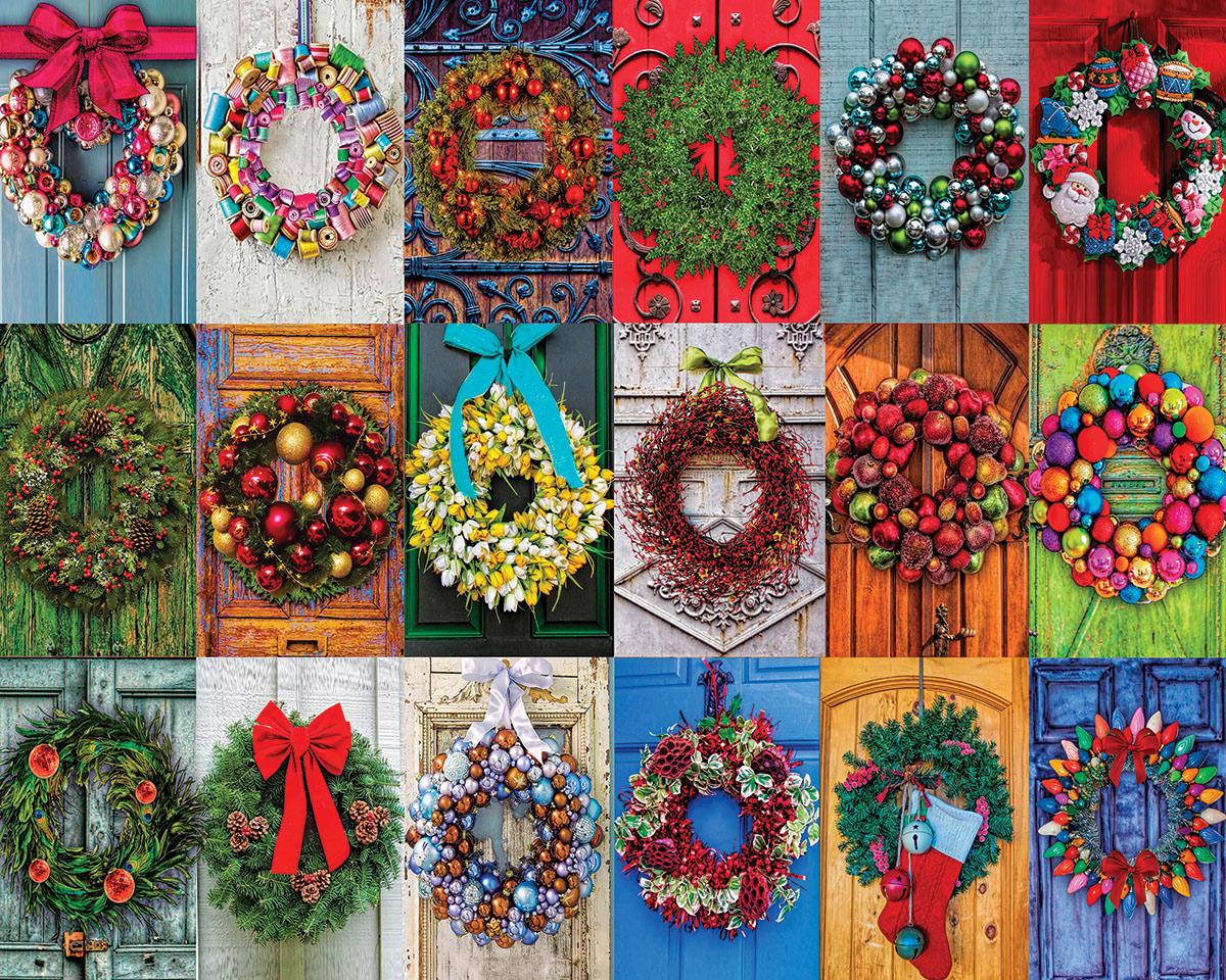Festive Wreaths Christmas Jigsaw Puzzle