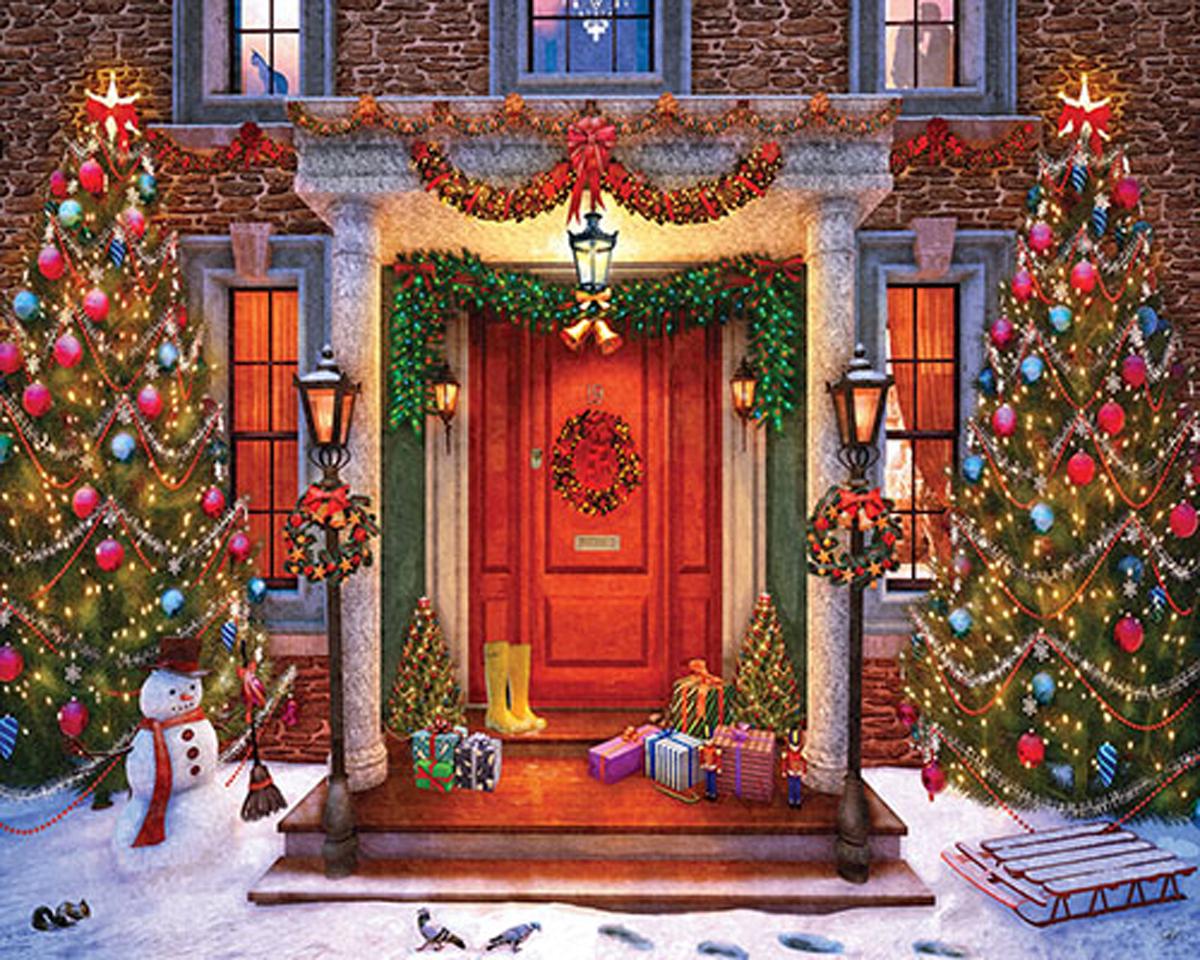 Christmas Lights Christmas Jigsaw Puzzle