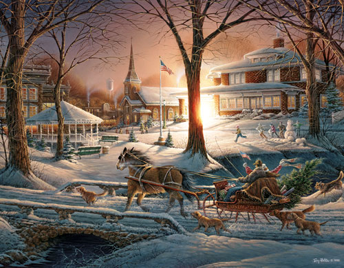 Racing Home Christmas Jigsaw Puzzle