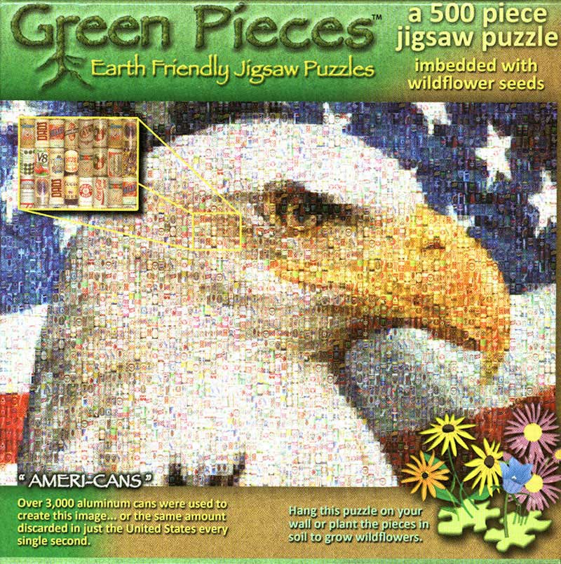 GREEN - Ameri-Cans Eagles Jigsaw Puzzle