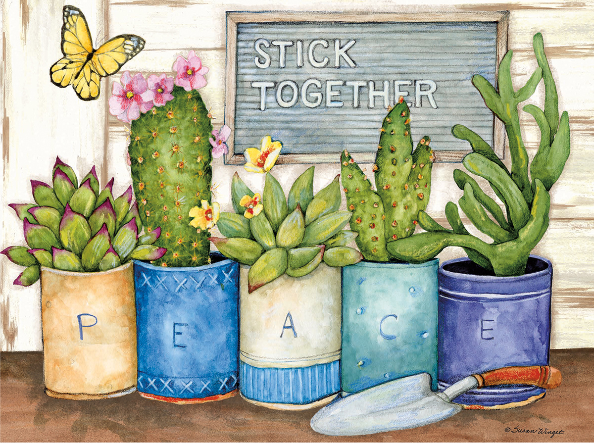 Stick Together Flowers Jigsaw Puzzle