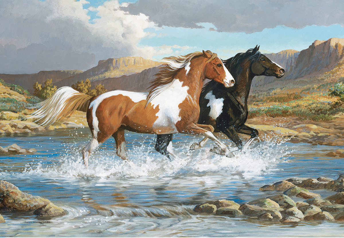 Stream Canter Animals Jigsaw Puzzle