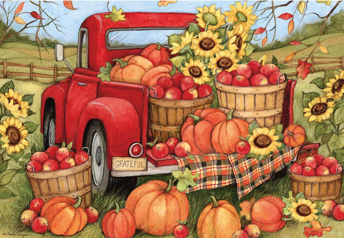 Harvest Truck Fall Jigsaw Puzzle