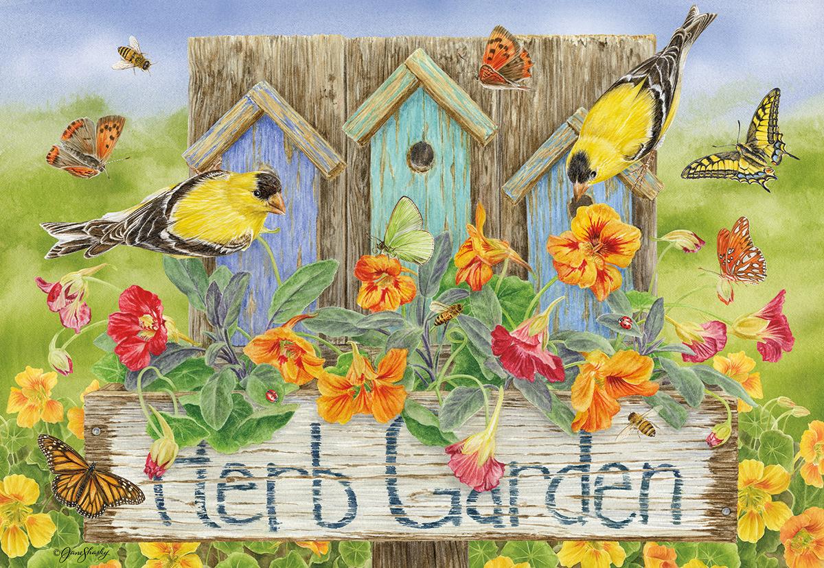 Herb Garden - Scratch and Dent Birds Jigsaw Puzzle