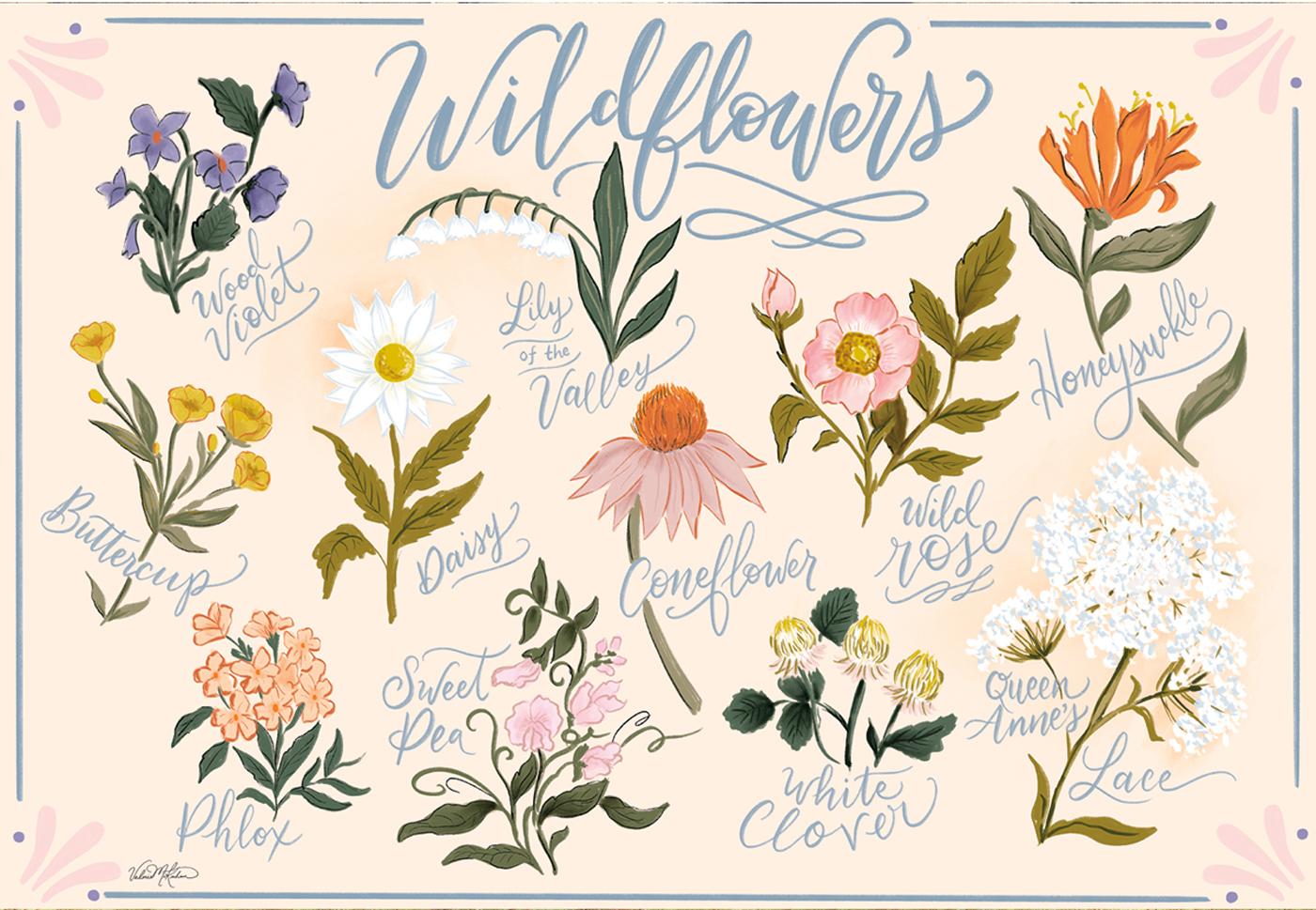 Wildflowers Flowers Jigsaw Puzzle