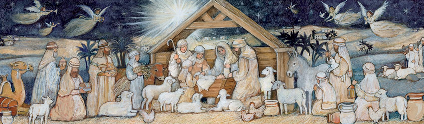 Nativity Set Religious Jigsaw Puzzle
