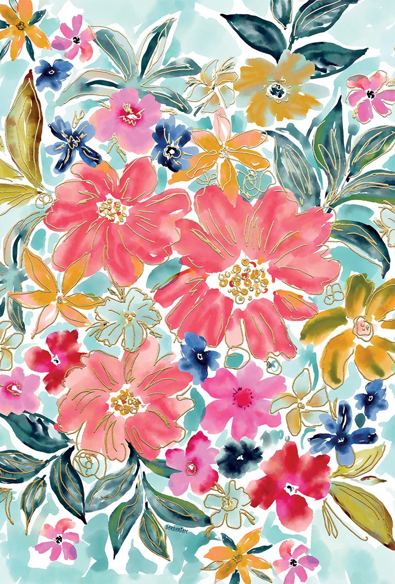 Barbarian Flowers Jigsaw Puzzle