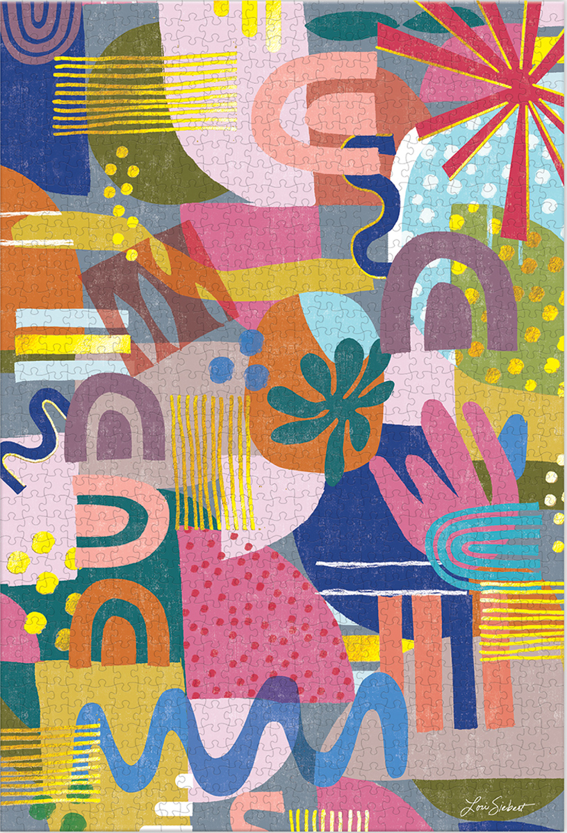 Block Party Graphics / Illustration Jigsaw Puzzle