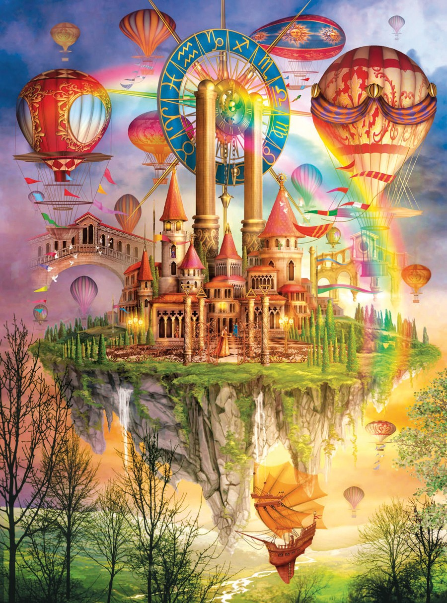 Above the Clouds (Holographic) - Scratch and Dent Castles Glitter / Shimmer / Foil Puzzles