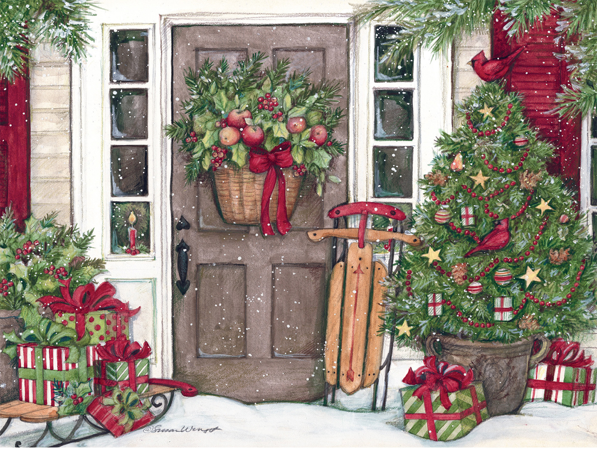 Holiday Door Winter Jigsaw Puzzle