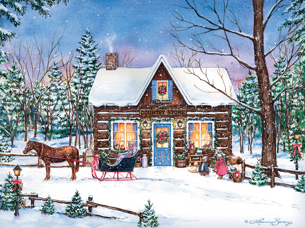 Magical Evening Winter Jigsaw Puzzle