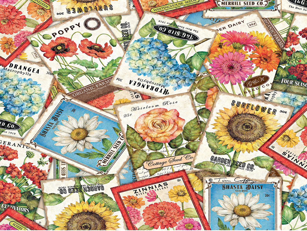 Seed Packets Flowers Jigsaw Puzzle