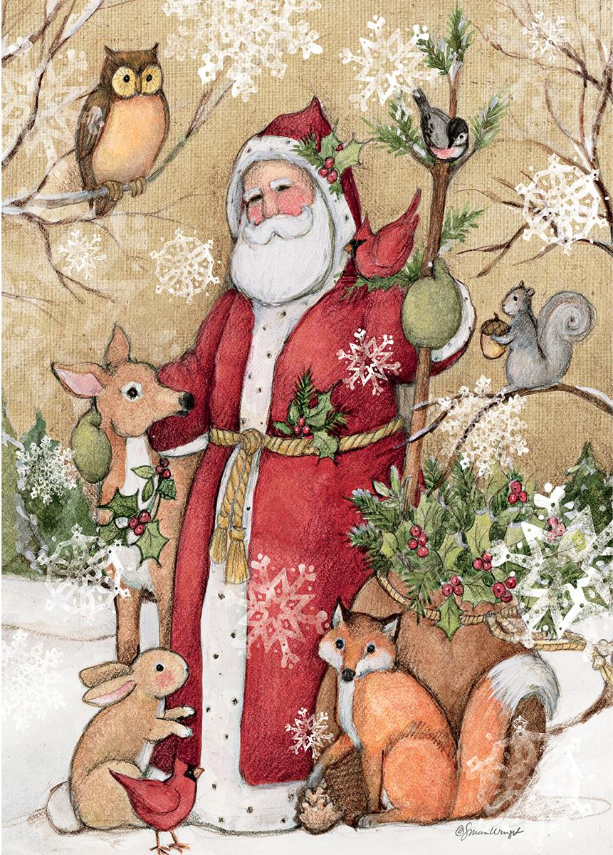 Woodland Santa Animals Jigsaw Puzzle