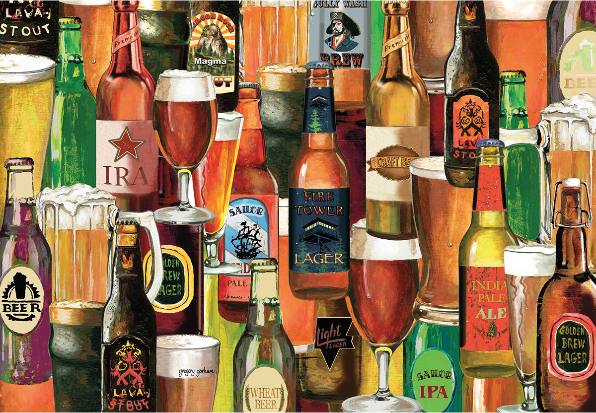 Crafted Brews Food and Drink Jigsaw Puzzle
