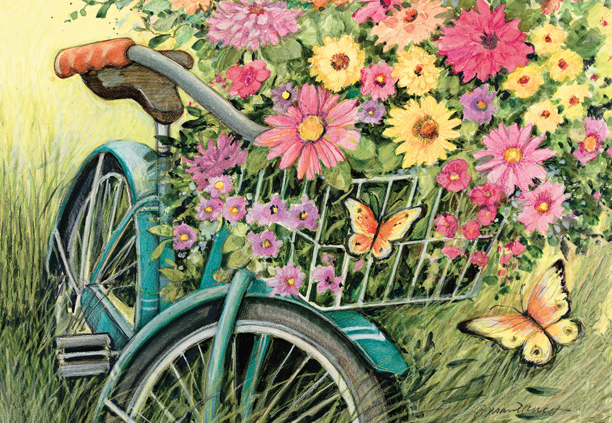 Bicycle Bouquet Flowers Jigsaw Puzzle