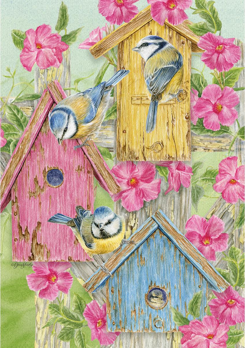 Birdhouse Gate Birds Jigsaw Puzzle