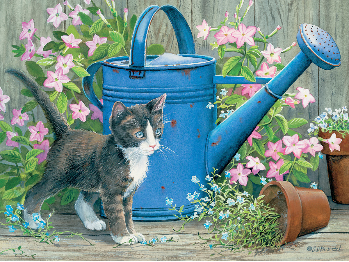 Gardners Assistant Cats Jigsaw Puzzle