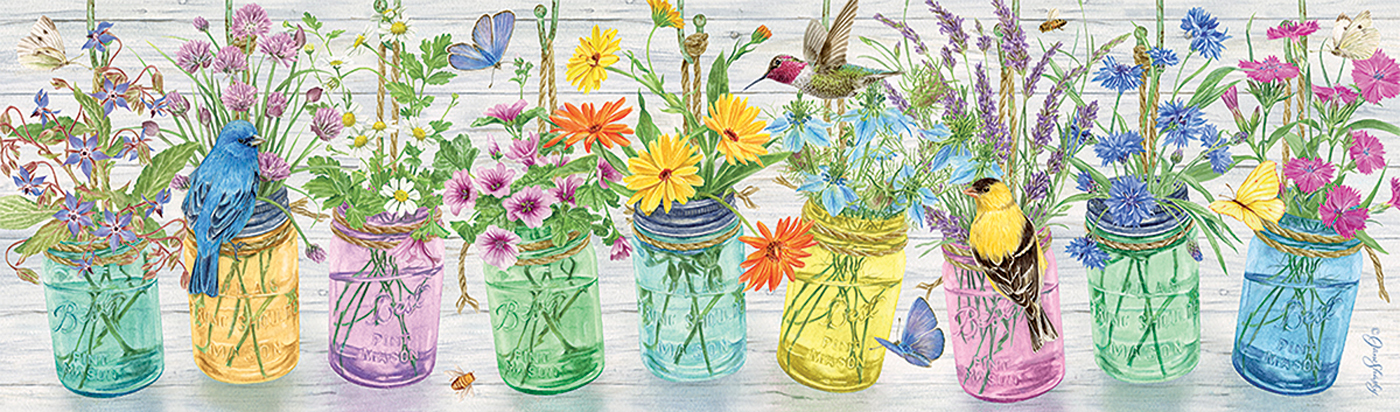 Herb Jars Flowers Jigsaw Puzzle