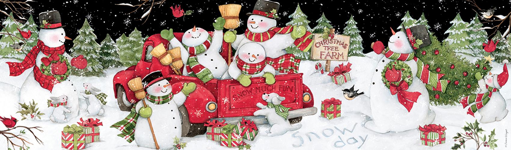 Snow Day Snowman Jigsaw Puzzle