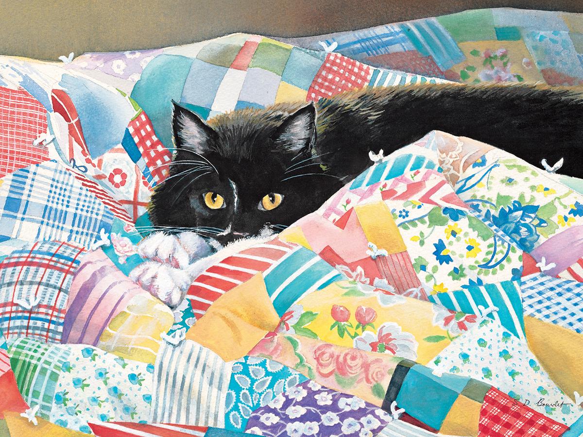 Grandmas Quilt Cats Jigsaw Puzzle