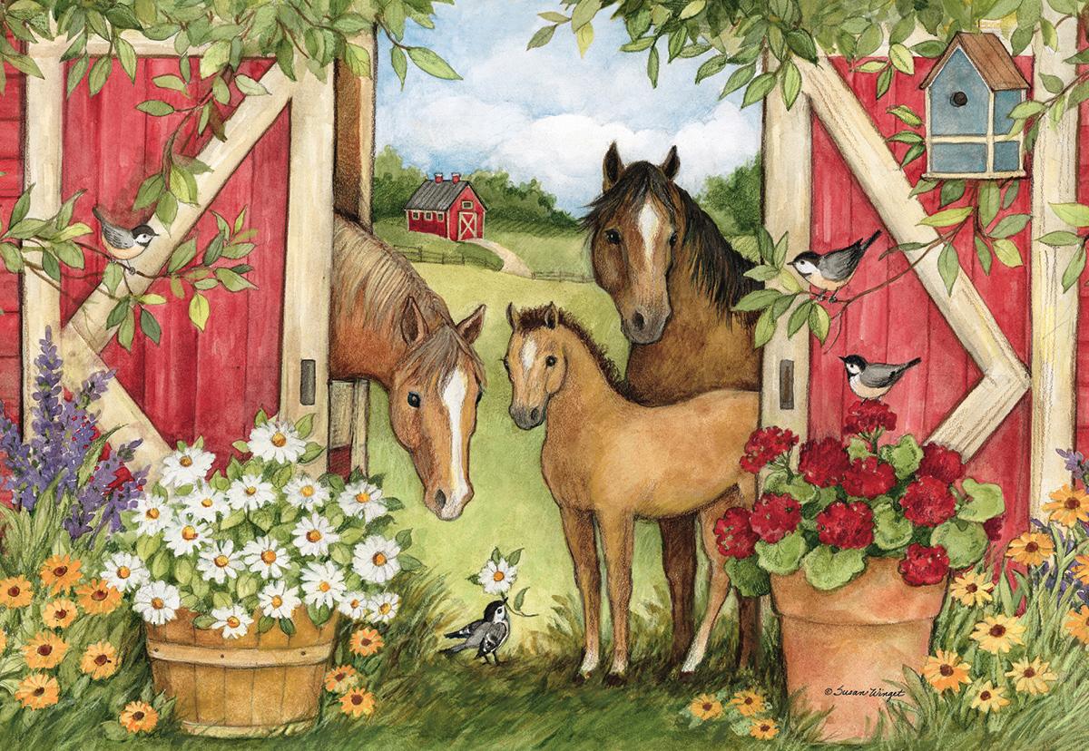 Heartland Barn Farm Jigsaw Puzzle